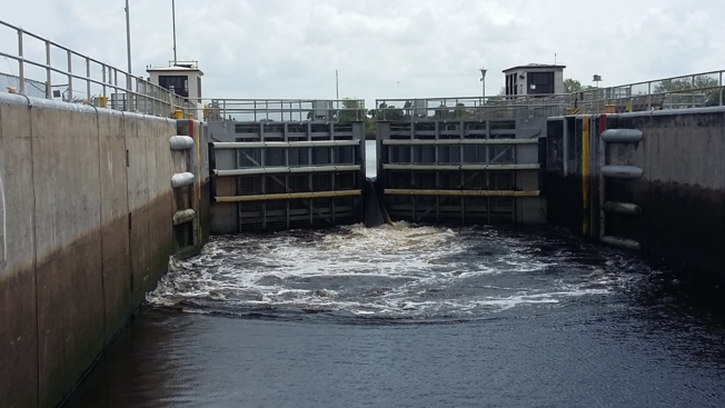 Okeechobee waterway lock